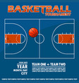 variant of the poster for basketball tournament vector image vector image