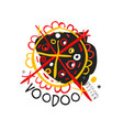 voodoo african and american magic logo with circle vector image vector image