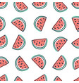 watermelon seamless pattern in sketchy style vector image vector image