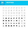 weather line web glyph icons vector image