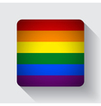 Web button with rainbow flag vector image