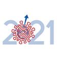 year 2021 solution coronavirus pandemic vector image vector image