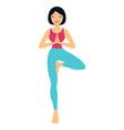 yoga asana vrksasana vector image vector image