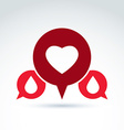 a red heart symbol with blood drops medi vector image vector image