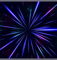 abstract cosmic blue background vector image vector image