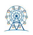 amusement entertainment park giant wheel for fun vector image