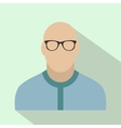 Bald man avatar icon vector image vector image