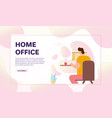 banner work at home vector image vector image