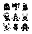 black monsters silhouettes set vector image vector image