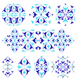 blue oriental border and ornament nineteen vector image vector image