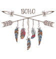 Boho Style for T-shirt and Decoration vector image vector image