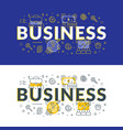 business flat line concept for web banner and vector image vector image