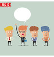 Business man raise hand - - EPS10 vector image