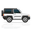 car jeep off road suv 02 vector image vector image