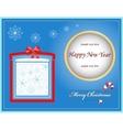 card christmas gift vector image vector image