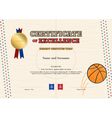 Certificate of excellence template in sport theme vector image vector image
