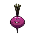 Cheeky little purple cartoon beetroot vector image vector image