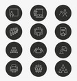 conference icon set round vector image vector image