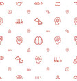 creativity icons pattern seamless white background vector image vector image