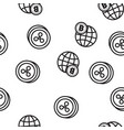 cryptocurrency icon seamless pattern vector image vector image