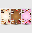 cupcake vertical banner vector image