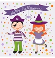 Cute colorful Halloween kids set