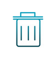 delete trash can mobile icon communications vector image
