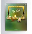 easter green composition on pendants with the vector image vector image