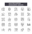 facilities support line icons signs set vector image vector image