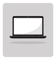 flat icon laptop vector image vector image