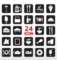 Food And Beverage Icon Set EPS10 vector image vector image