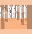 forest panorama view with flat elements vector image