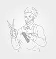 gentleman barbershop symbol design barber man