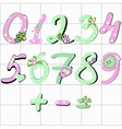 girly number vector image vector image