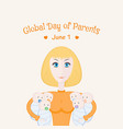 global day parents card vector image vector image