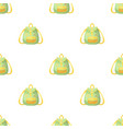 Green hippy backpackhippy single icon in cartoon