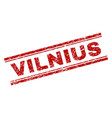 grunge textured vilnius stamp seal vector image