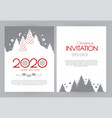 happy new 2020 year flyer design template elegant vector image vector image