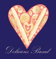 heart bread vector image vector image