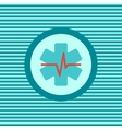 Heart First Aid color flat icon vector image