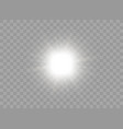 icon with bright flash of light vector image