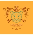Leopard head logo in frame vector image