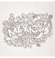 Mexico country hand lettering and doodles elements vector image vector image