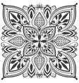 Monochrome oriental ornament vector image
