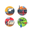 Office equipment set vector image