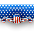 Patriotic background with shield vector image vector image