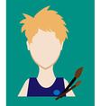 Profession people painter Face male uniform vector image