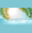 realistic nature palm leafes on tropical beach vector image vector image