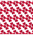 red heart seamless pattern on a white background vector image