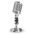 retro microphone isolated on a white background vector image
